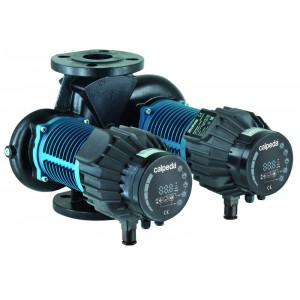 Energy saving twin circulating pumps with flanges