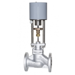 KFM - Motor control valve in two way form with PTFE-V-ring sealing, DN15-50 PN 16 / 25 / 40