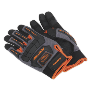 Sealey - Mechanic's Gloves Anti-Collision - Large, MG803L