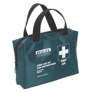 Sealey - First Aid Kit Small for Mopeds & Motorcycles - BS 8599-2 Compliant