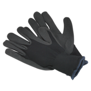 Sealey - Nitrile Foam Palm Gloves - Large, SSP62L