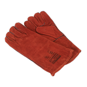 Sealey - Leather Welding Gauntlets Lined Pair, SSP141