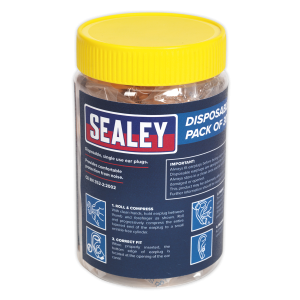 Sealey - Ear Plugs Disposable Pack of 30 Pairs, SSP18D30PK