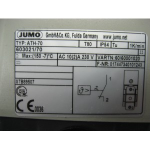 Jumo, ATHs-70, 603021/70-1-043-00-0-00-20-13-46-200-8-6/000 , TN#60001020