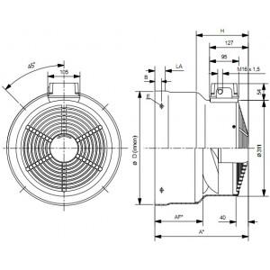 WISTRO Cooling Fan for SIEMENS 1LA5 (Bg180-200)