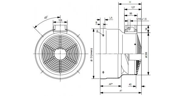 wistro cooling fan for siemens 1la5  bg180
