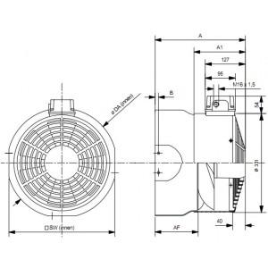WISTRO Cooling Fan ABB M2AA (Bg160-180)