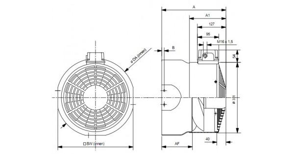 wistro cooling fan abb m2aa  bg160